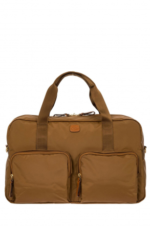 2192 Bric's X-Travel Travel Bag 46x24x22 cm Taba / Leather