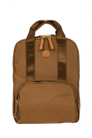 3756 Bric's X-Travel Backpack 28x36x16 cm Taba / Leather