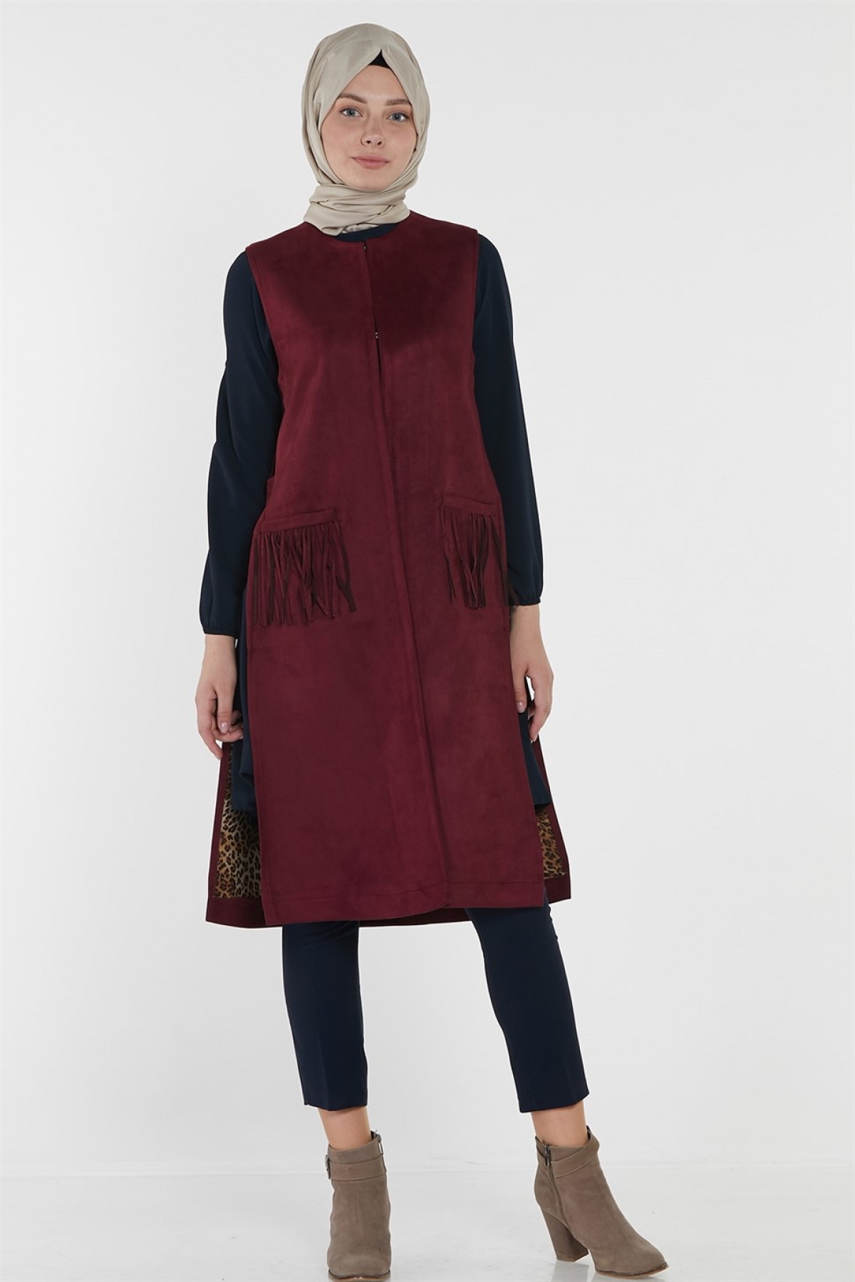 Armine Women Dress 8k4510  Claret Red