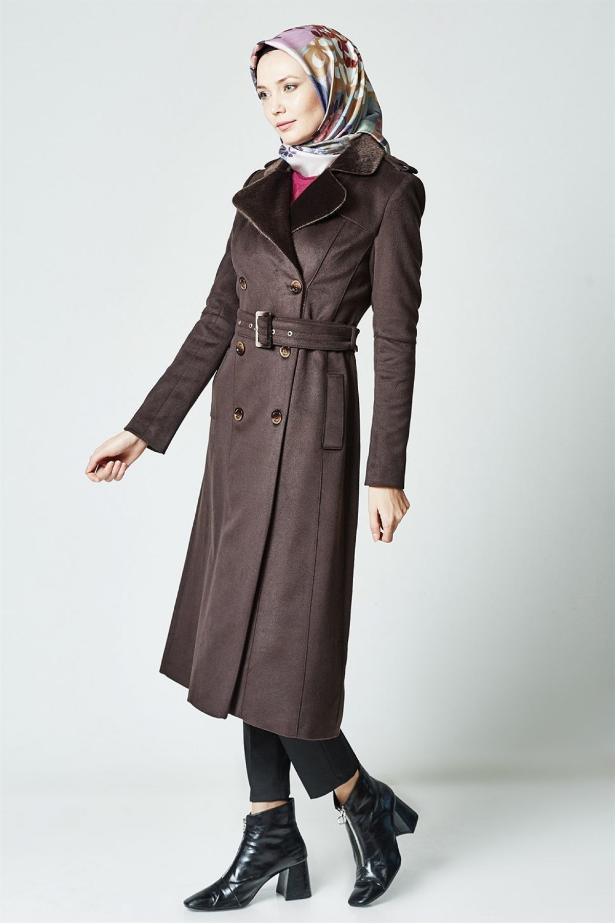 Armine Women's Coat - 8k7660  Brown