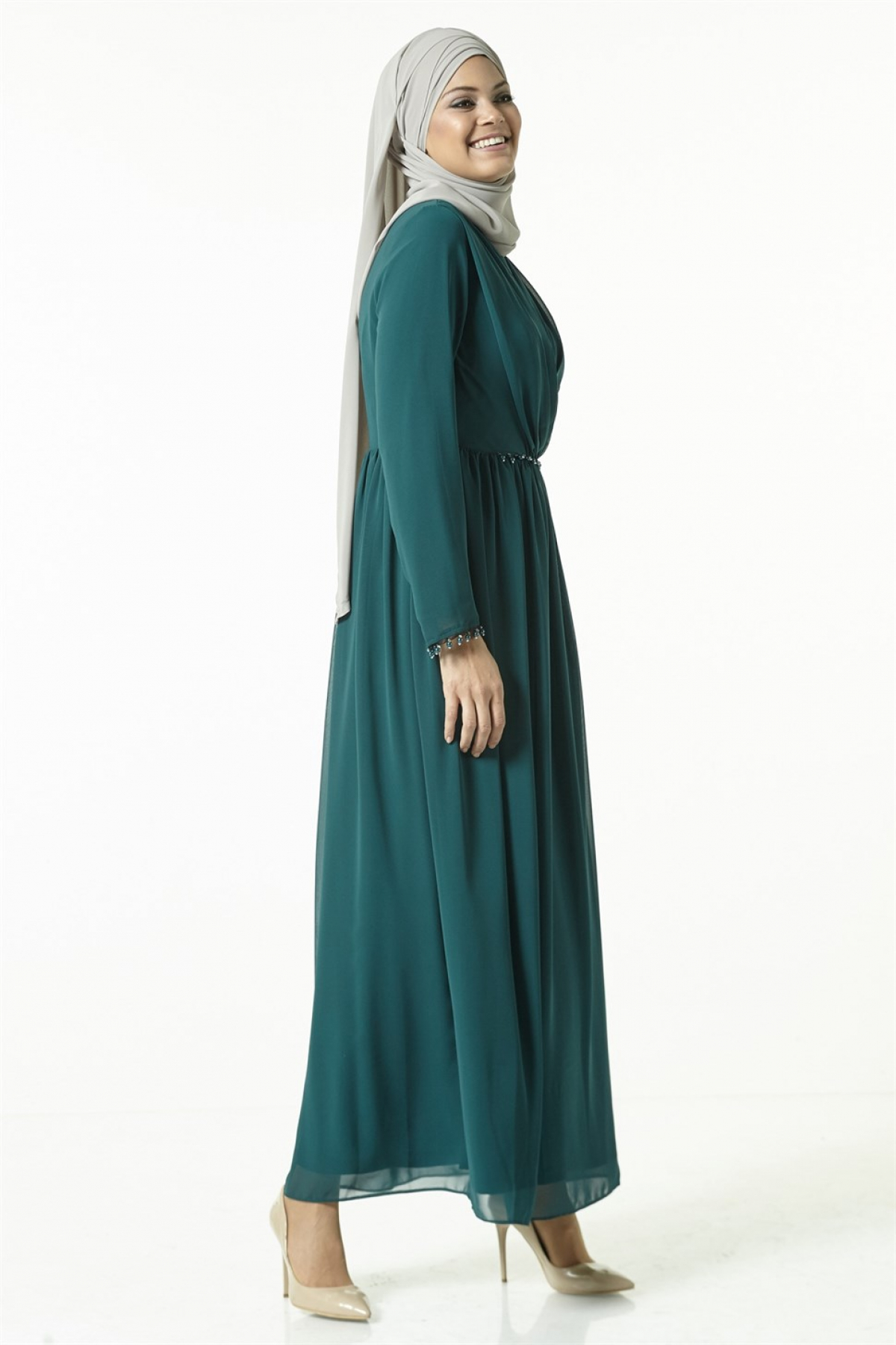 Armine Women Dress 8k9611  Green