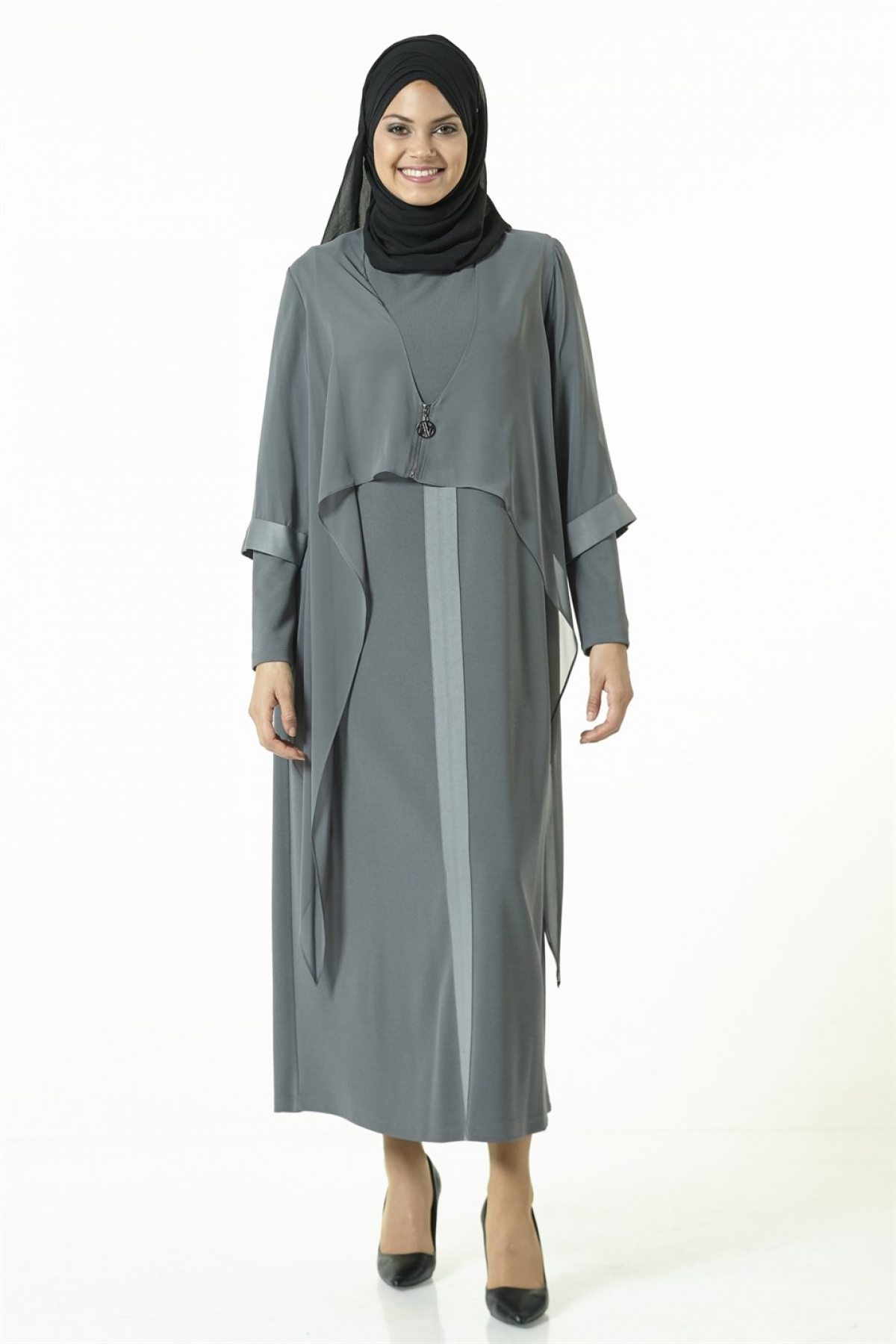 Armine Women Dress 8k9620  Grey