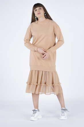 Bottom Chiffon Women Dress 2497