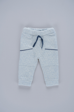 Detailed Unisex Baby Trousers 57447 Blue