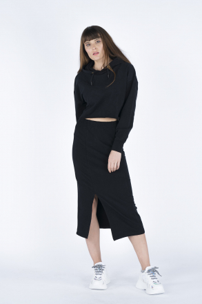 Women Hoodie-Skirt 2-Piece Set 02469