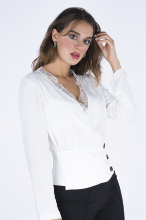 Collar Lacy Women Blouse 192120