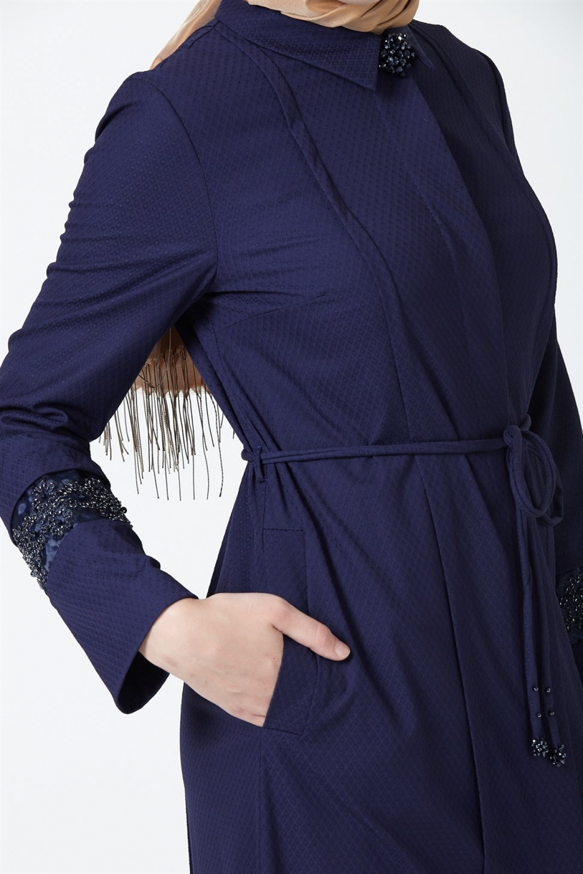 Armine Lace-Up Women's Topcoat 9Y8745 Blue