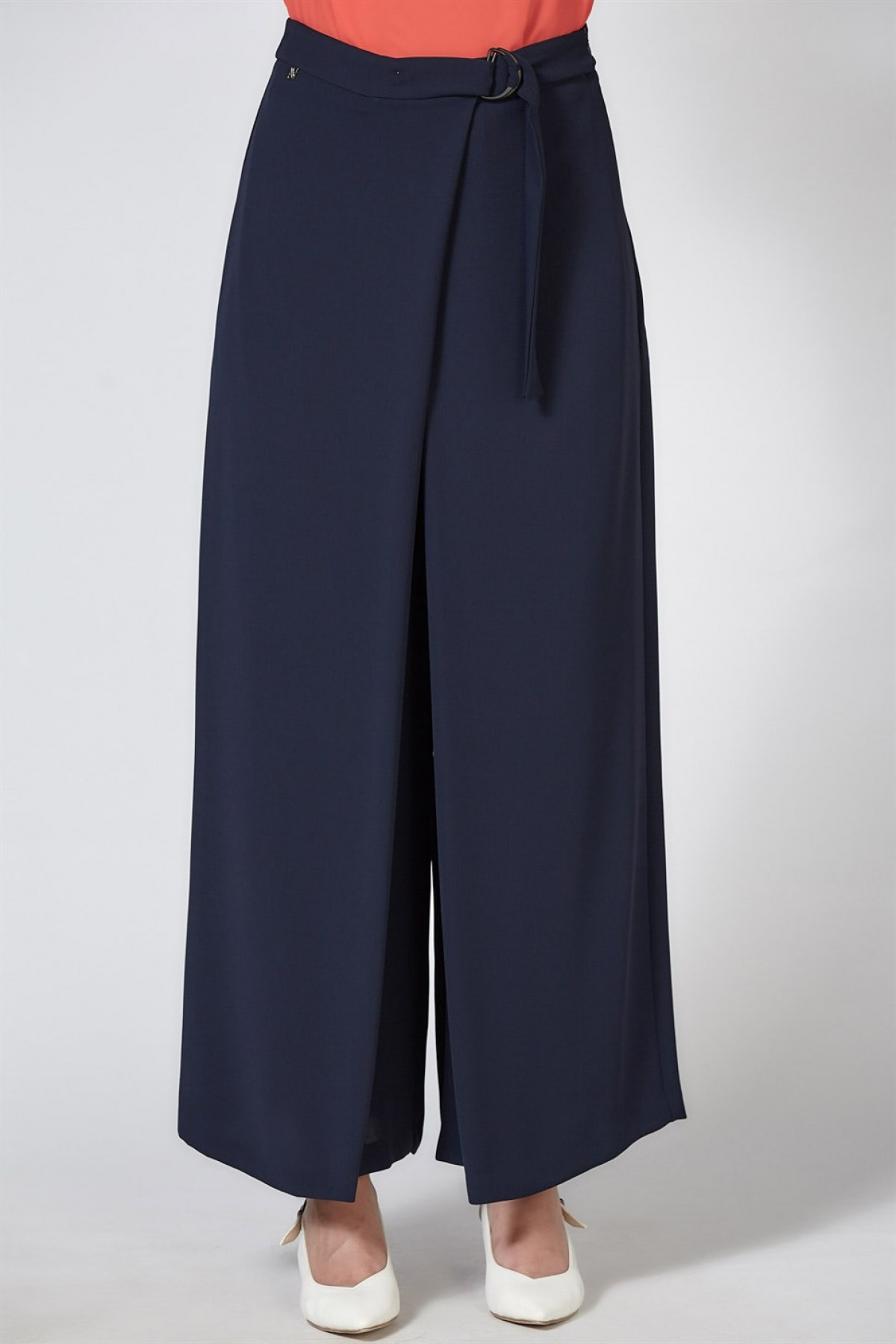 Armine Wide Leg Women's Pants - 9K2805 Blue