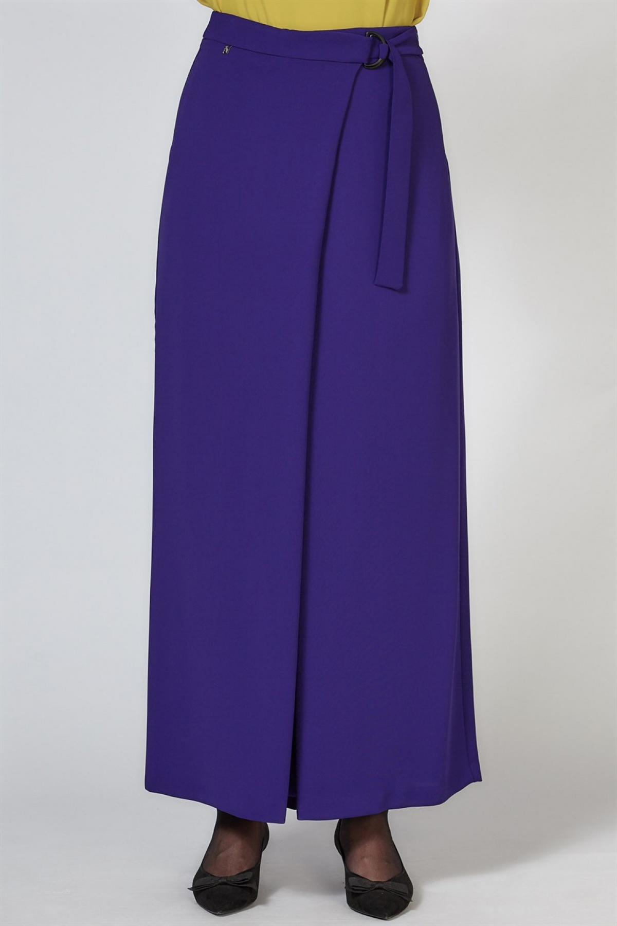 Armine Wide Leg Women's Pants - 9K2805 Purpule