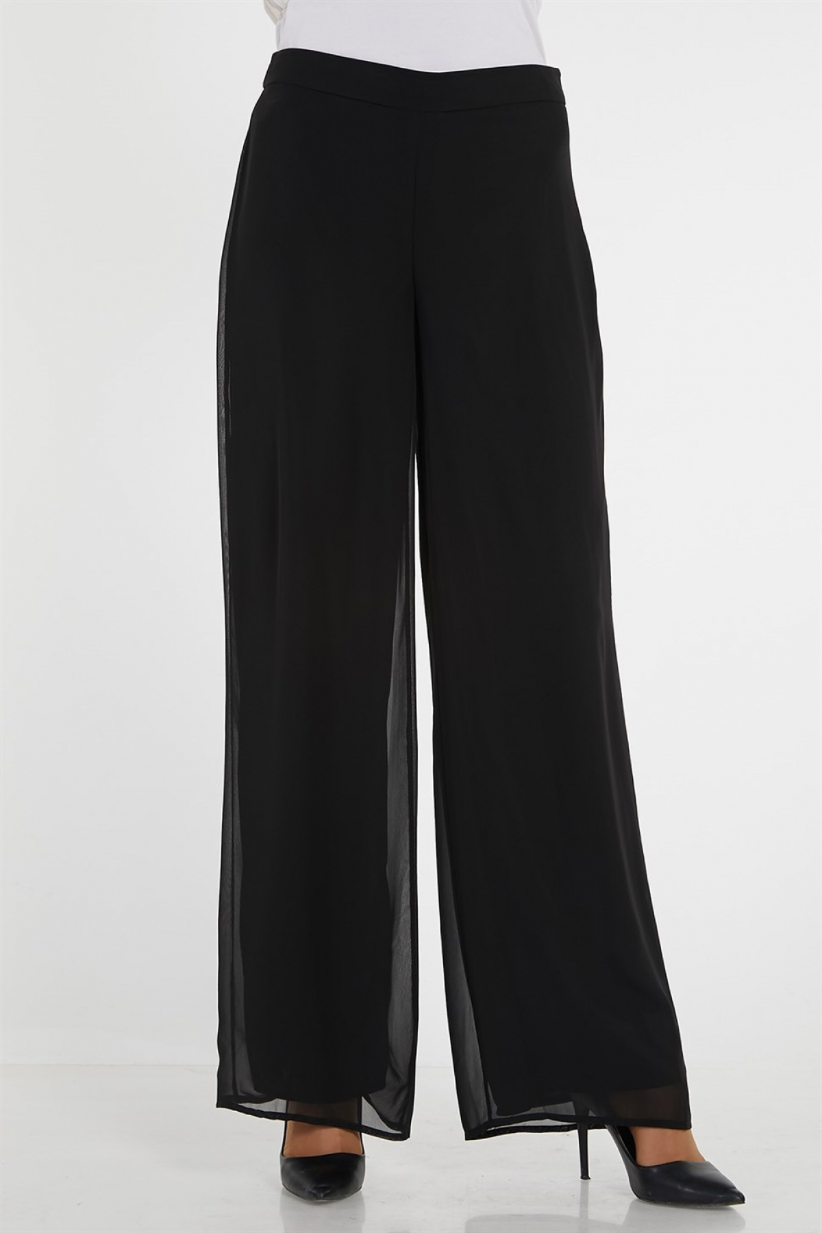 Armine Wide leg Women Pants - 9Y7504 Black