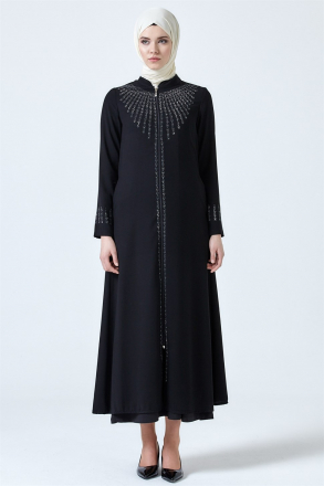 Armine Bead Embroidered Abaya 9Y8000