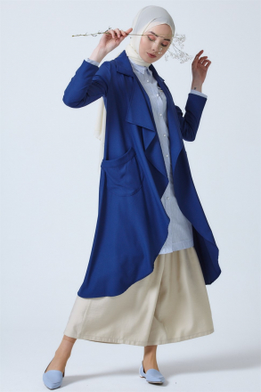 Armine Women Cardigan With Pocket 9Y3506 Blue
