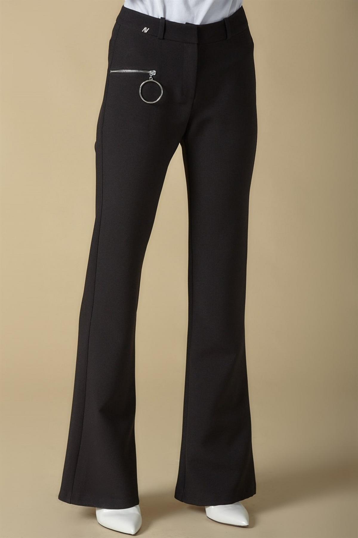 Armine Zipper Detailed Trousers - 9K2809 Black