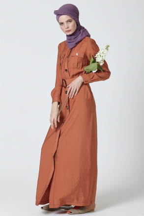 Armine Women Dress With a belt 9Y9775