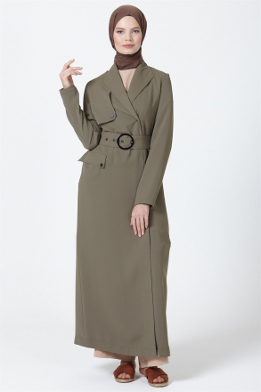 Armine Women's Topcoat With a Belt  9Y8721