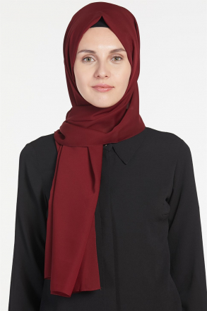 Armine Chiffon Women's Shawl Claret Red