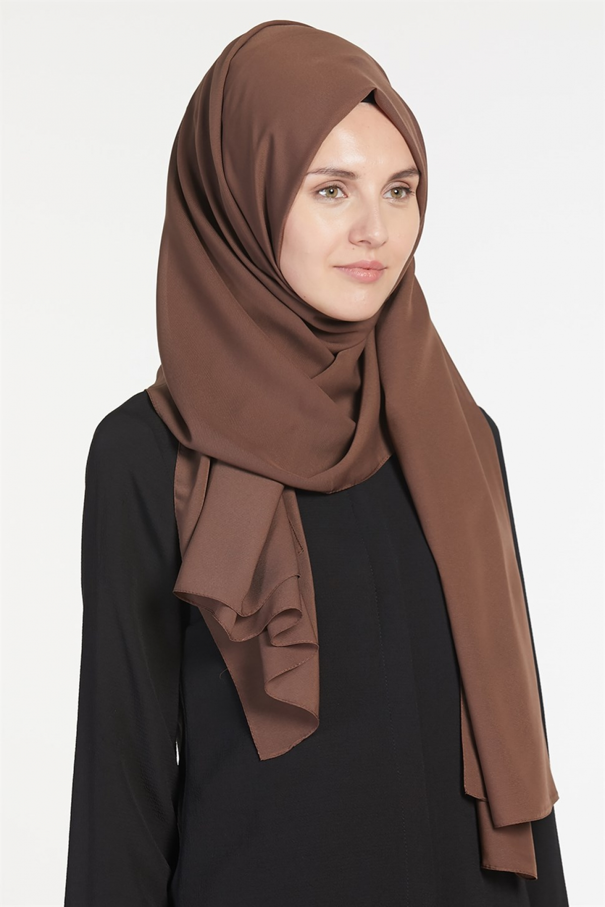 Armine Chiffon Women's Shawl Brown