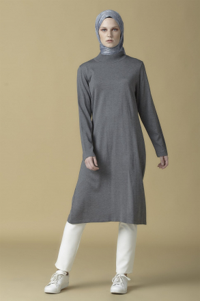 Armine knitwear Women Tunic - 9K2008 Grey