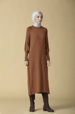 Armine Knitwear Tunic - 9K2006 Brown