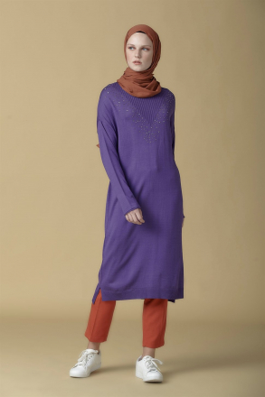 Armine Knitwear Women's Tunic -  9K2017 Purpule