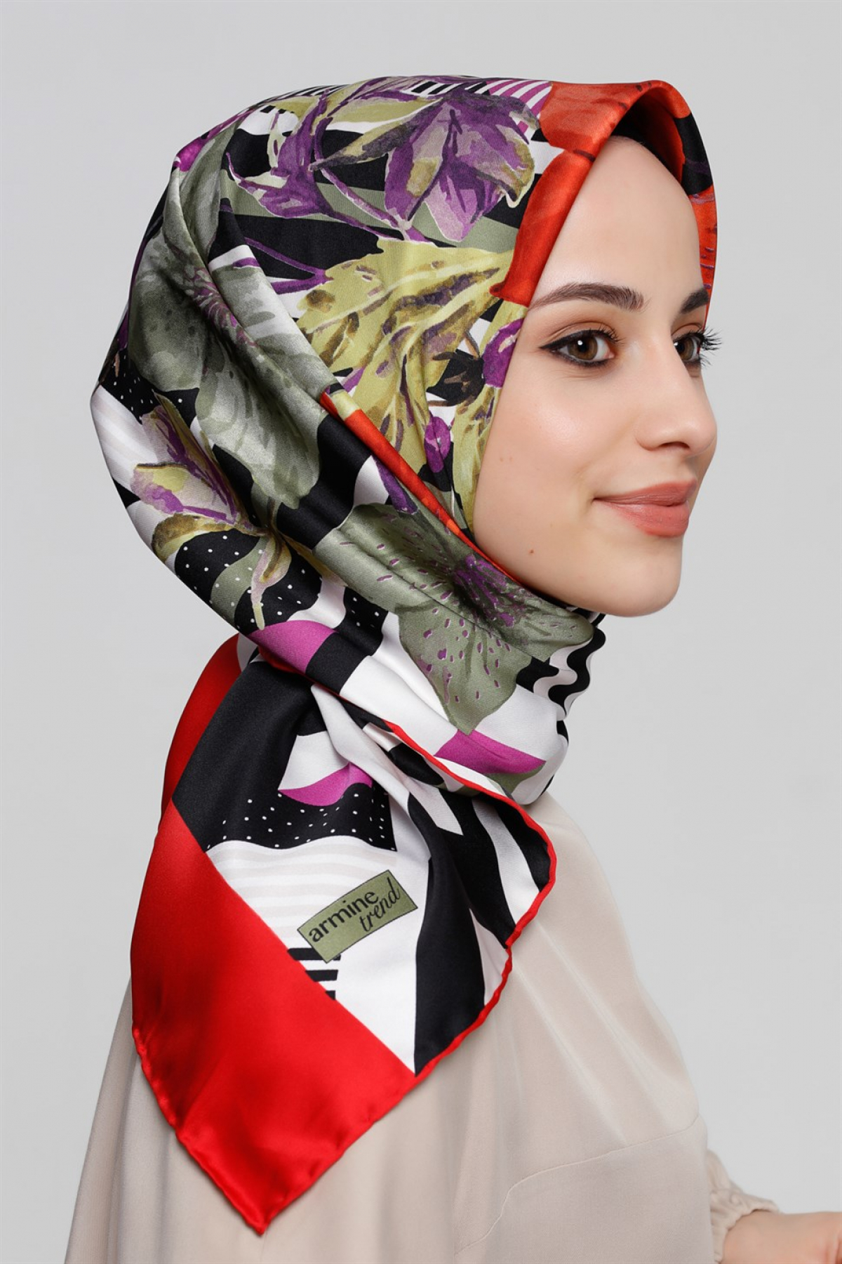 Armine Rayon Scarf Multicolored