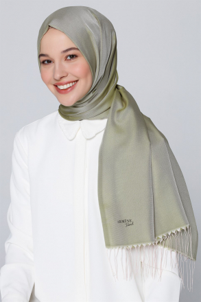 Nergis File Women's Shawl Green