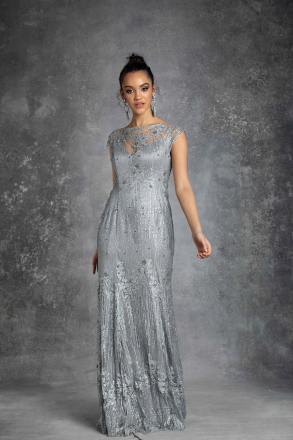 Deliza Women Evening Dress Silver