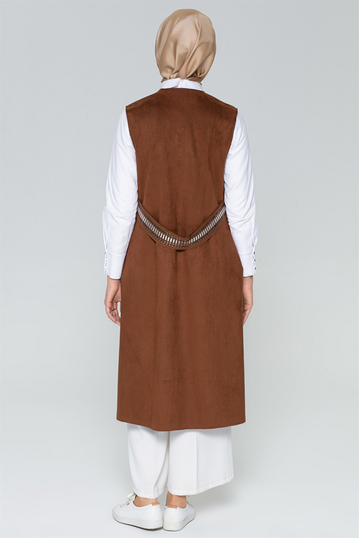 Armine Women Vest - 8k4521  Brown