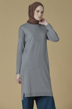 Armine Knitwear Women's Tunic -  9K2017 Grey