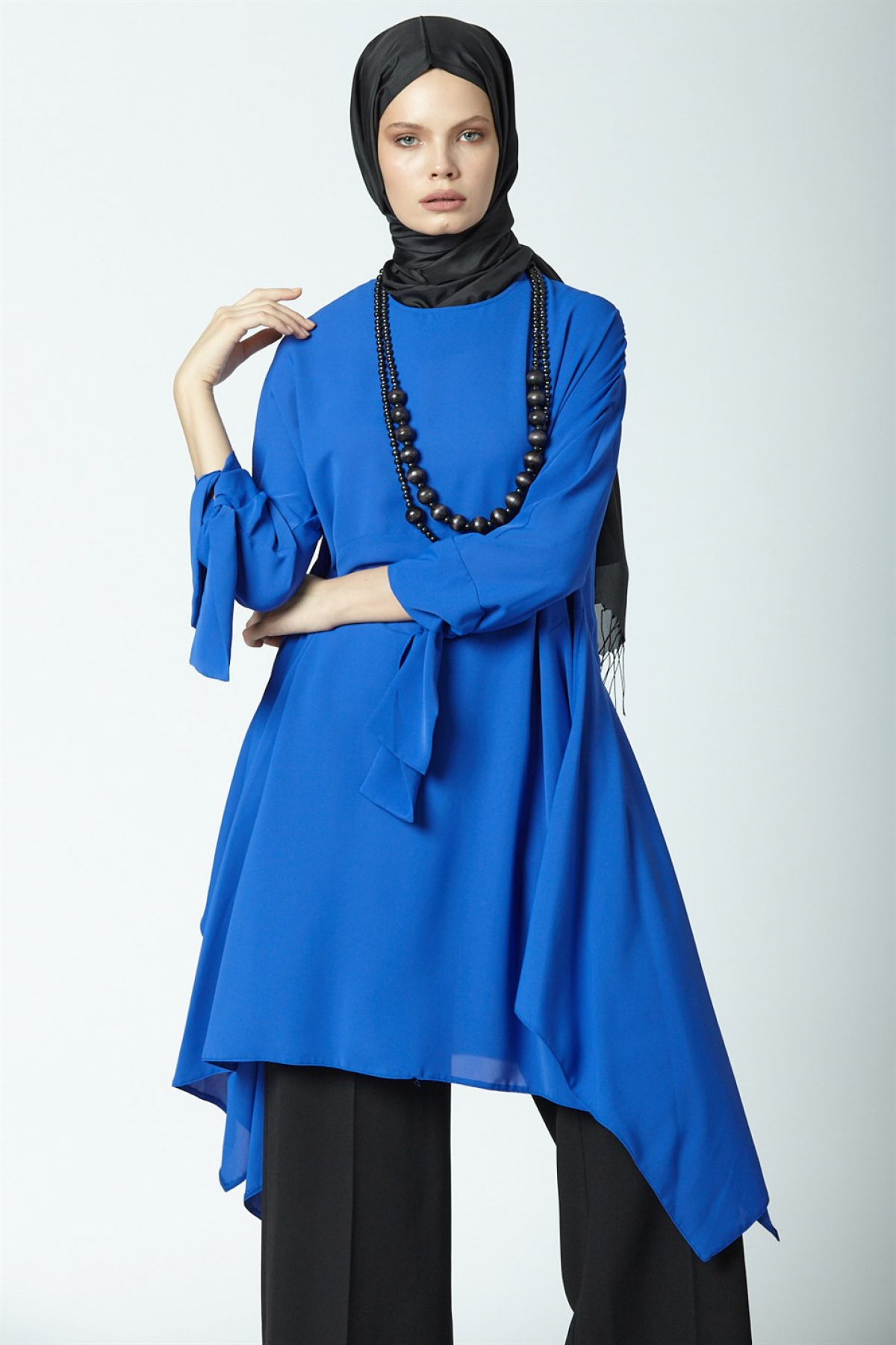 Armine Women's Tunic With a Necklace Accessory 9Y4732 Blue