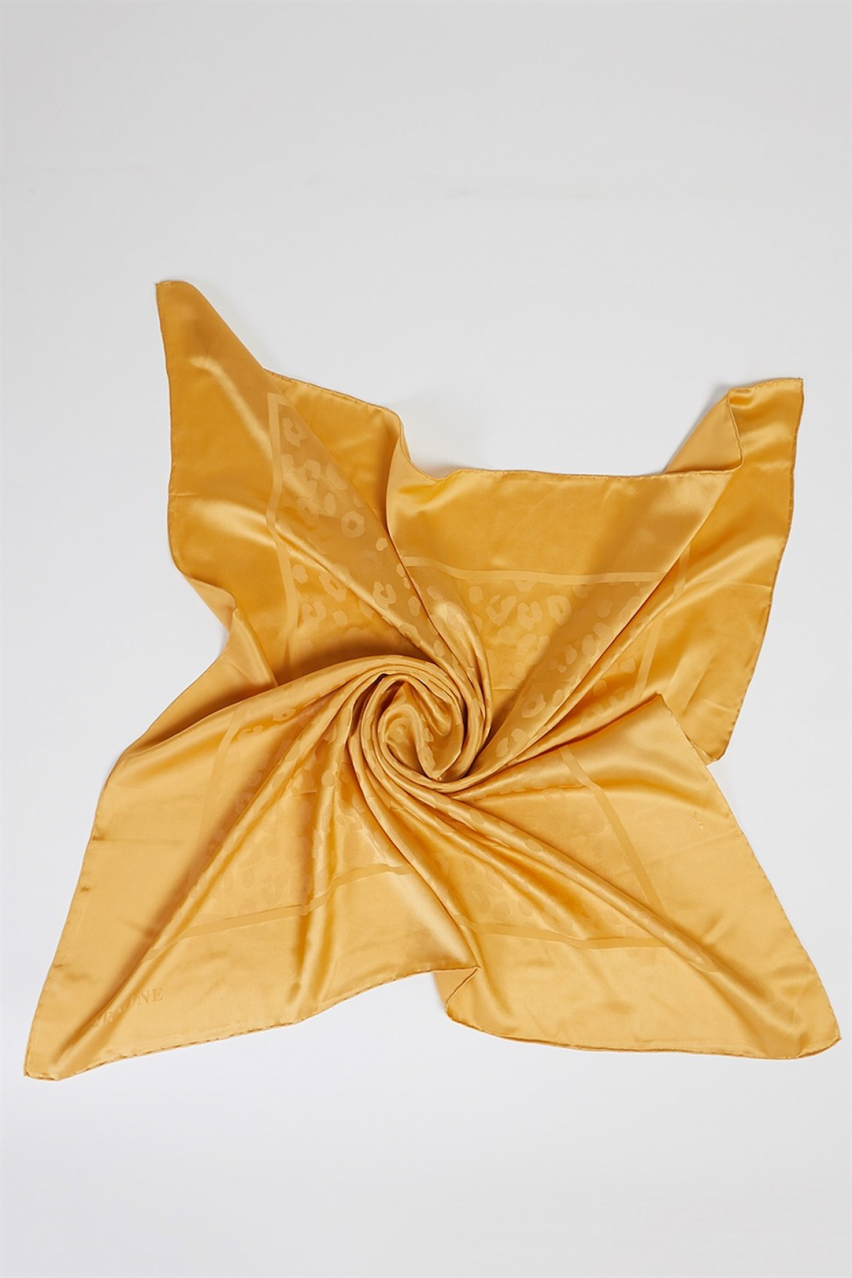 Pure Silk Jacquard Women Scarf ( J ) Gold