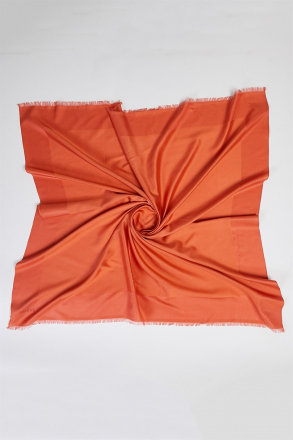 Zülal Silk Women's Scarf 1240 (A) Orange